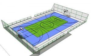 4b59cd8284 Maquete da quadra poliespotiva que srá construída no campus de Goioerê